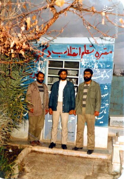 شهید حاج رضا قائمی در سوریه و کنار مزار مرحوم دکتر شریعتی