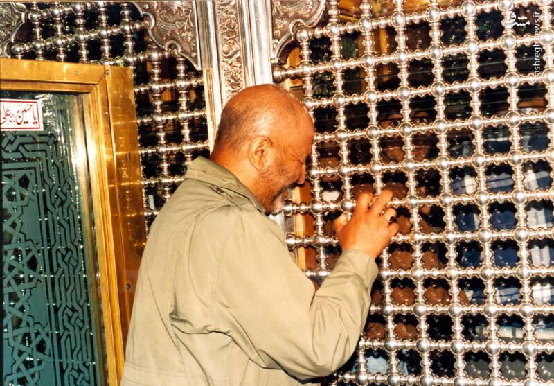 حاج رضا قائمی مدت کوتاهی قبل از شهادت