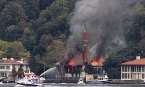 آتش سوزی مسجد مربوط به دوره عثمانی در استانبول