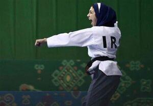 بانوی محجبه ایرانی روی پوستر پومسه قهرمانی جهان +عکس
