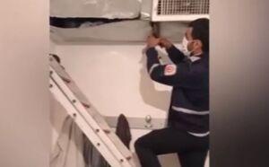 فیلم/ گرفتار شدن یک سارق در کانال کولر