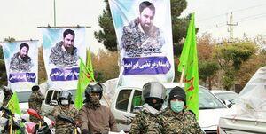 رژه اقتدار موتورسواران به یاد شهید آبان ۹۸/ توزیع ۱۵۰۰ بسته معیشتی جایگزین برگزاری مراسم