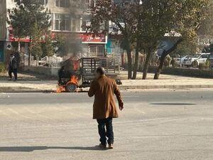 فیلم/ ماشین پرتابگر راکتهای حمله کابل