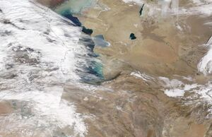 تصویر ناسا از وضعیت آب و هوای امروز ایران