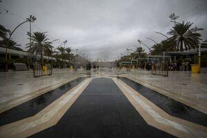 عکس/ حال و هوای بارانی بین الحرمین