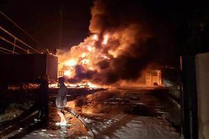 آتشسوزی در نیروگاه تولید برق الناصریه عراق +فیلم