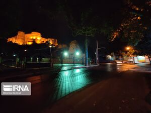 خرمآباد دقایقی قبل از ساعت ۹ شب