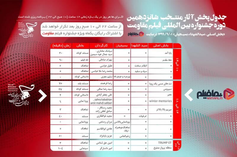 آغاز جشنواره مقاومت از کنار مزار حاج قاسم + جدول نمایش فیلمها
