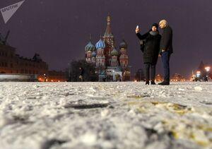 عکس/ مسکو سفید پوش شد