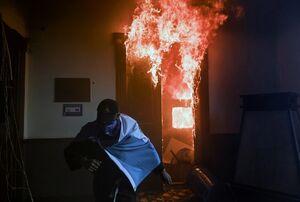 معترضان کنگره گواتمالا را آتش زدند
