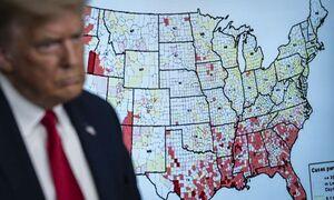 ویروس کرونا از کنترل خارج شده و همه ایالتهای آمریکا به حال خود رها شدهاند/ بیکفایتی ترامپ سراسر آمریکا را قرمز کرده است