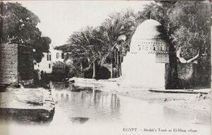 تصویری قدیمی از مرقد مالک اشتر نخعی در مصر