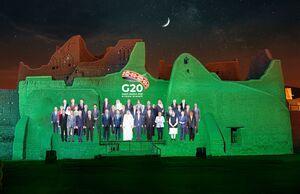عکس یادگاری مجازی اعضای جی 20