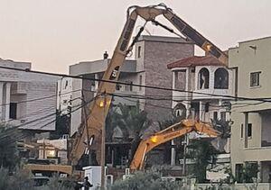 عکس/ تخریب خانه یک فلسطینی توسط صهیونیستها