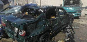 عکس/ انفجار خودرو بمبگذاری شده در شمال سوریه