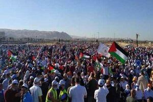 حمله ارتش صهیونیستی به راهپیمایی فلسطینیها علیه طرح «الحاق»