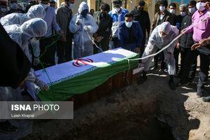 عکس/ تشییع اولین شهید مدافع سلامت سیرجان