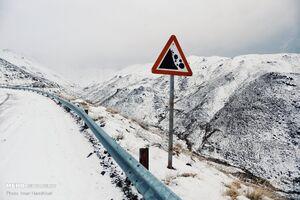 تصاویری از محورهای برفی استان البرز