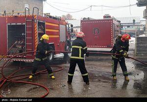 آتش سوزی گسترده ایستگاه مترو شوش را تعطیل کرد