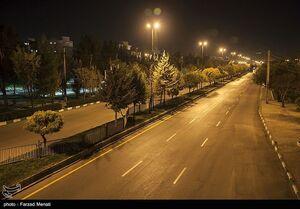 عکس/ منع تردد شبانه در شیراز, کردستان و کرمانشاه