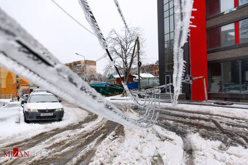 باران یخی در ولادی واستوک