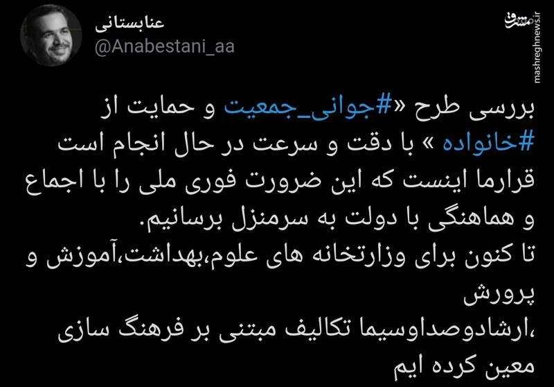 اقدامات مجلس برای تحقق طرح جوانی جمعیت ایران