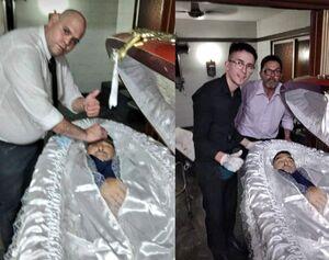 عکس/ سلفی با جسد مارادونا