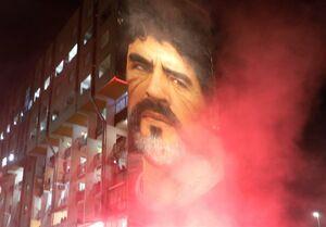 عکس/ درگیری طرفداران مارادونا در مراسم تشییع