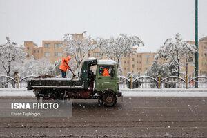 عکس/بارش اولین برف پاییزی در اردبیل و زنجان