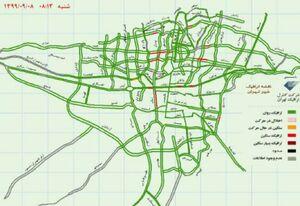 عکس/ وضعیت ترافیکی خیابانهای تهران