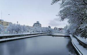 عکس/ مردم اردبیل دمای منفی ۱۸درجه را تجربه کردند