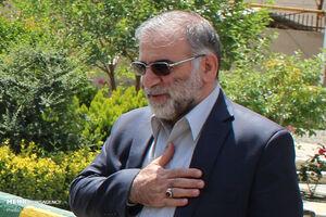 پیکر شهید فخری زاده برای طواف به حرم مطهر رضوی منتقل شد