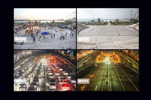 عکس/ تهران در روزهای قبل و بعد از کرونا