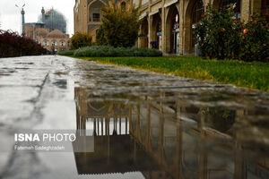 عکس/ باران پاییزی در اصفهان