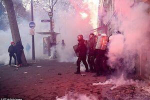 فیلم/ پلیس فرانسه در محاصره معترضان