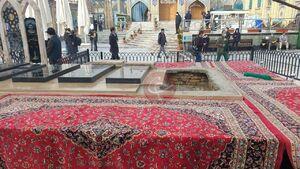 عکس/ مزار شهید فخری زاده در امام زاده صالح(ع)