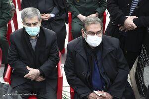 عکس/ شمخانی در مراسم تشییع شهید دانشمند هستهای