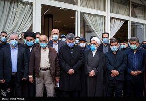 عکس/ چهرهها در تشییع پیکر حجت الاسلام شهیدی محلاتی