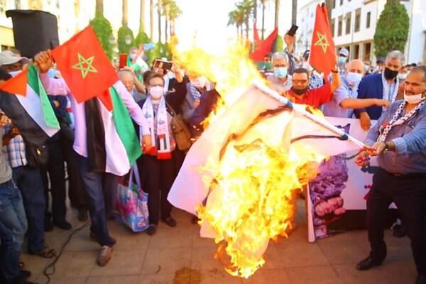 2994436 - آتش زدن پرچم رژیم صهیونیستی در مغرب +عکس