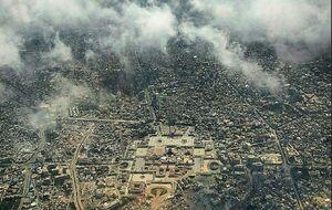 عکس/ نمای هوایی از حرم امام مهربانیها