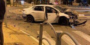 عکس/ انفجار یک خودرو در جنوب تلآویو