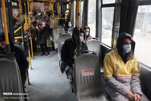 عکس/ پروتکلهای بهداشتی در حمل و نقل عمومی گرگان
