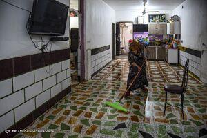 فیلم/ فروکش کردن آب در غرب اهواز