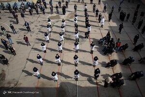 عکس/ تشییع شهید سلامت «زهرا سوری» در شیراز