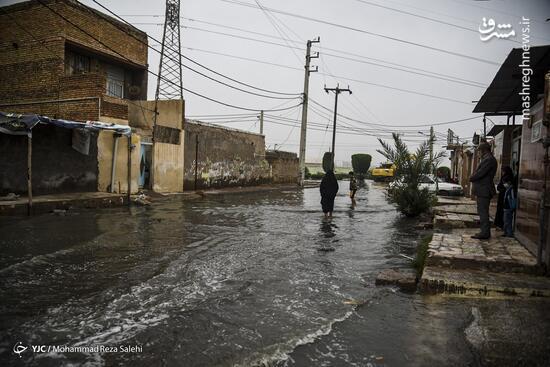 فیلم/ غرب اهواز غرق در آب