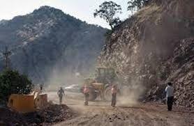 ریزش کوه در جاده پلدختر-خرم آباد