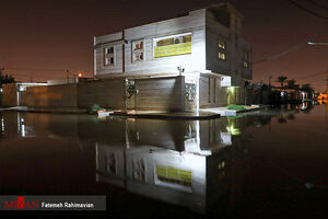 عکس/ سیلاب و آب گرفتگی بندر امام خمینی (ره)