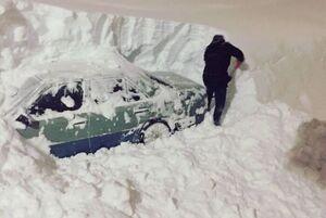 عکس/ حجم بارش برف بیسابقه در روسیه