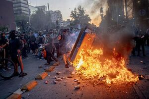 عکس/ ناآرامیها در خیابانهای سانتیاگو