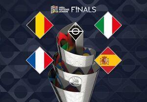 قرعهکشی مرحله نهایی لیگ ملتهای اروپا| اسپانیا حریف ایتالیا شد، فرانسه به مصاف بلژیک میرود